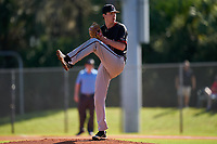 Omaha Mavericks pitcher Richie Holetz (8) during a game against the Dartmouth Big Green on February 23, 2020 at North Charlotte Regional Park in Port Charlotte, Florida.  Dartmouth defeated Omaha 8-1.  (Mike Janes/Four Seam Images)