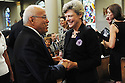 Dr. Norman Francis and Cokie Roberts were seen at  US Rep. Lindy Boggs' funeral at St. Louis Cathedral, New Orleans, Aug. 1, 2013.