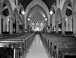 Pittsburgh PA:  The interior of the Trinity Episcopal Church in downtown Pittsburgh.  View of the inside of the church prior to the renovation after the fire damaged the interior.