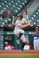 Scranton/Wilkes-Barre RailRiders Brad Miller (4) at bat during an International League game against the Buffalo Bisons on June 5, 2019 at Sahlen Field in Buffalo, New York.  Scranton defeated Buffalo 3-0, the first game of a doubleheader.  (Mike Janes/Four Seam Images)