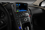 Stereo audio system close up detail view of a 2011 Chevrolet Volt