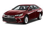 2017 Toyota Camry 2.5-Auto-LE 4 Door Sedan Angular Front stock photos of front three quarter view
