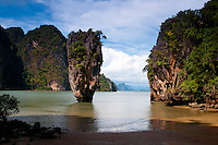 Limestone cliff of Ko Tapu (James Bond Island) in Phang Nga Bay, Thailand