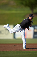 Kannapolis Intimidators starting pitcher Davis Martin (24) in action against the Hickory Crawdads at Kannapolis Intimidators Stadium on May 6, 2019 in Kannapolis, North Carolina. The Crawdads defeated the Intimidators 2-1 in game one of a double-header. (Brian Westerholt/Four Seam Images)