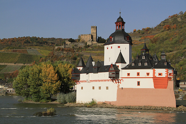 Castles along the Rhine River Valley, France