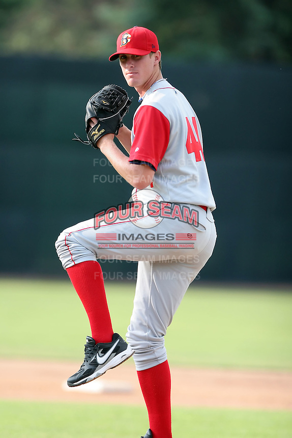 July 11th 2008:  First round draft pick Brad Holt (44) of the Brooklyn Cyclones, Class-A affiliate of the NY Mets, during a game at Russell Diethrick Park in Jamestown, NY.  Photo by:  Mike Janes/Four Seam Images