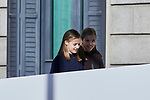 Princess Leonor of Spain and Princess Sofia of Spain attends to 40 Anniversary of Spanish Constitution at Congreso de los Diputados in Madrid, Spain. December 06, 2018. (ALTERPHOTOS/A. Perez Meca)