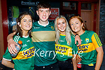 Enjoying the evening in Killarney on Saturday, l to r: Ciara Rath (Tralee), Chris Nolan, Ciara Bowler and Emma Buckley.