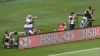 Photographers in the 2017 HSBC World Sevens Series Wellington pool match between New Zealand and Samoa at Westpac Stadium in Wellington, New Zealand on Saturday, 28 January 2017. Photo: Kerry Marshall / lintottphoto.co.nz