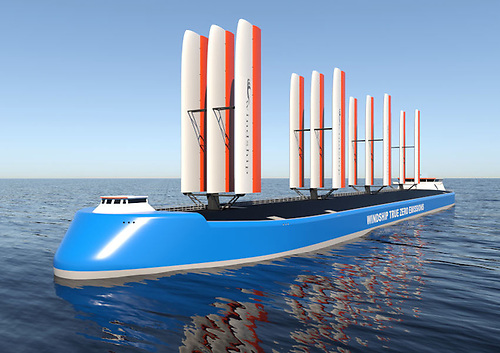 Windship Technology's True Zero concept for zero-emissions shipping
