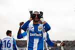 CD Leganes's Youssef En-Nesyri and Chidozie Awaziem celebrate goal during La Liga match 2019/2020 round 20<br /> December 22, 2019. <br /> (ALTERPHOTOS/David Jar)