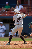 Lehigh Mountain Hawks relief pitcher Connor Donovan (25) at bat during a game against the Dartmouth Big Green on March 20, 2016 at Chain of Lakes Stadium in Winter Haven, Florida.  Dartmouth defeated Lehigh 5-4.  (Mike Janes/Four Seam Images)