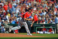 9 June 2012: Washington Nationals pitcher Gio Gonzalez in action against the Boston Red Sox at Fenway Park in Boston, MA. The Nationals defeated the Red Sox 4-2 in the second game of their 3-game series. Mandatory Credit: Ed Wolfstein Photo