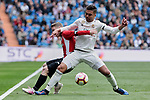 Real Madrid's Carlos Henrique Casemiro and Athletic Club de Bilbao's Iker Muniain during La Liga match between Real Madrid and Athletic Club de Bilbao at Santiago Bernabeu Stadium in Madrid, Spain. April 21, 2019. (ALTERPHOTOS/A. Perez Meca)