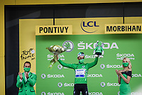 green jersey Julian Alaphilippe (FRA/Deceuninck-Quick Step)<br /> <br /> Stage 3 from Lorient to Pontivy (183km)<br /> 108th Tour de France 2021 (2.UWT)<br /> <br /> ©kramon