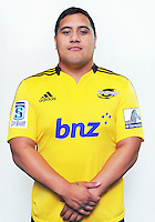 Eric Sione. Hurricanes Super 15 official headshots at Rugby League Park, Wellington, New Zealand on Sunday, 9 December 2012. Photo: Dave Lintott / lintottphoto.co.nz
