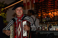 Melbourne, July 14, 2018 - Musician Phil Carroll at Bastille Day celebrations at Philippe Restaurant in Melbourne, Australia. Photo Sydney Low