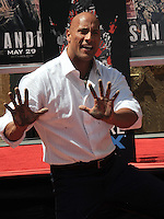 Dwayne Johnson Hands & Footprints Ceremony in Cement