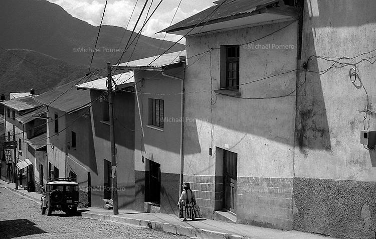 02.2010  Coroico (Bolivia)<br /> <br /> Femme allant au carnaval de coroico.<br /> <br /> Woman going to coroico carnival.