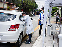 SÃO PAULO, SP, 06.02.2021:  Vacinação Covid -19  - Campanha de Vacinação contra a Covid-19 para pessoas  idosas a partir de 90 anos na manhã deste sábado (06) na UBS Vila Barbosa no bairro do Mandaqui zona norte da cidade de São Paulo SP.