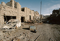 A street of what was the chic High Street of Kabul..The fight (1992 to 1995) between warlords Ahmad Shah Massoud of the Jamiat-e Islami and Gulbuddin Hekmatyar from the Hezb-e Islami, destroy one third of the Afghan capital.
