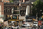 A building that collapsed in Philadelphia Pensilvania