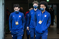BELFAST, NORTHERN IRELAND - MARCH 28: Luca de la Torre, Christian Cappis, Erik Palmer-Brown of the United States during a game between Northern Ireland and USMNT at Windsor Park on March 28, 2021 in Belfast, Northern Ireland.