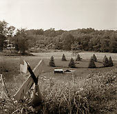 Quecreek, Pennsylvania.July 6, 2003..Bill and Lori Arnold's dairy farm where the rescue of the nine miners took place. They have turned one of their barns into a tourist center. Hundreds of tourists arrive every week...