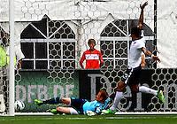 WASHINGTON, DC - June 02 2013: USA MNT v Germany MNT in the US Soccer Centennial match at RFK Stadium, in Washington DC.Marc-André ter Stegen (22) own goal. USA won 4-3.