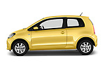 Car Driver side profile view of a 2016 Skoda Citigo Ambition 3 Door hatchback Side View