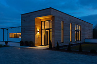 BNPS.co.uk (01202) 558833<br /> Pic: Savills/BNPS<br /> <br /> A striking high-tech eco home that would not look out of place in a Bond film is on the market for offers over £4m.<br /> <br /> Skyfall is a luxurious house in the Berkshire countryside designed to be totally carbon free.<br /> <br /> With its luxe white interiors, minimalist decor and stunning countryside surroundings, the five-bedroom property would fit effortlessly into 007's world.<br /> <br /> But it's the eco features of the brand new house, which is just outside the village of Taplow with Huntswood Golf Course next door, that make it really stand out.
