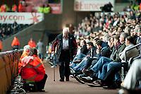 Thursday 24 October 2013  <br /> Pictured: Swansea City Fans<br /> Re:UEFA Europa League, Swansea City FC vs Kuban Krasnodar,  at the Liberty Staduim Swansea
