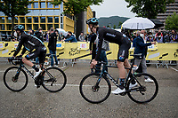 Team DSM at the start riding 'black wheels'<br /> <br /> Stage 8 from Oyonnax to Le Grand-Bornand (151km)<br /> 108th Tour de France 2021 (2.UWT)<br /> <br /> ©kramon
