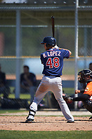 Minnesota Twins Brandon Lopez (48) during a minor league Spring Training game against the Baltimore Orioles on March 17, 2017 at the Buck O'Neil Baseball Complex in Sarasota, Florida.  (Mike Janes/Four Seam Images)