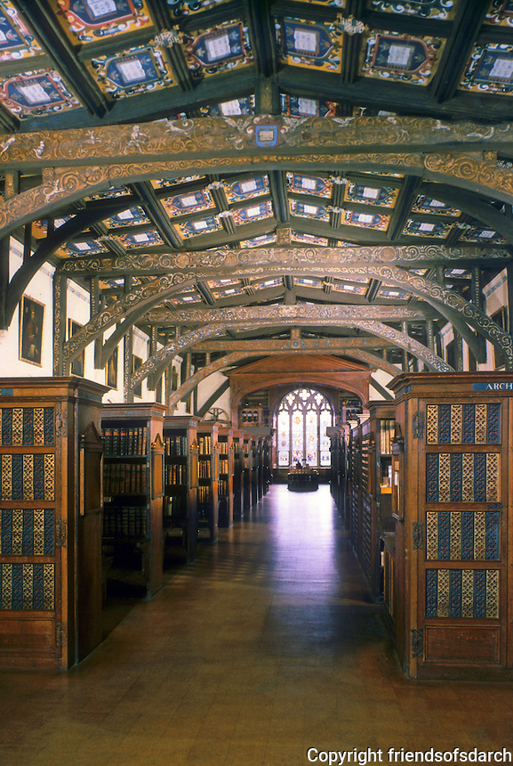 Oxford: The Bodleian, 15th Century. Humphrey, Duke of Gloucester, Brother of Henry V, gave his library to university.