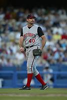 Paul Wilson of the Cincinnati Reds during a 2003 season MLB game at Dodger Stadium in Los Angeles, California. (Larry Goren/Four Seam Images)