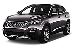 2017 Peugeot 3008 GT-Line 5 Door Suv Angular Front stock photos of front three quarter view