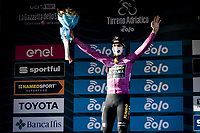 Wout van Aert (BEL/Jumbo-Visma) is now (only) leading in the points qualification after stage 4 from Terni to Prati di Tivo (148km) and becomes the new GC leader.<br /> <br /> 56th Tirreno-Adriatico 2021 (2.UWT) <br /> <br /> ©kramon