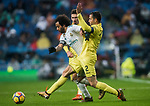 Marcelo Vieira Da Silva (L) of Real Madrid competes for the ball with Mario Gaspar Perez Martínez (R) of Villarreal CF during the La Liga 2017-18 match between Real Madrid and Villarreal CF at Santiago Bernabeu Stadium on January 13 2018 in Madrid, Spain. Photo by Diego Gonzalez / Power Sport Images