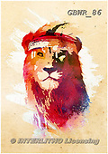 Simon, REALISTIC ANIMALS, REALISTISCHE TIERE, ANIMALES REALISTICOS, paintings+++++RobertF_GymLion,GBWR86,#a#, EVERYDAY