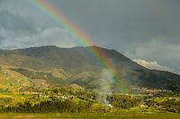 Peru, Urubamba Valley Rainbow.