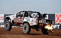 Dec. 10, 2010; Chandler, AZ, USA;  LOORRS super lite driver Kyle LeDuc during qualifying for round 15 at Firebird International Raceway. Mandatory Credit: Mark J. Rebilas-