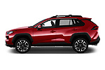 Car driver side profile view of a 2019 Toyota RAV4 Adventure 5 Door SUV