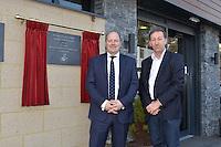 Friday 18th March 2016<br /> Huw Jenkins and Ged Roddy of the Premier League unveiling the new facility plaque<br /> Official opening of the Swansea City Landore Academy which includes a 3rd floor classroom, an extension and an indoor training barn