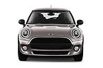 Car photography straight front view of a 2019 Mini MINI One 3 Door Hatchback