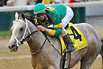 Calvin Borel rides his fifth winner of the day aboard Exfactor to take the G3 Bashford Manor Stakes at Churchill Downs in Louisville, Kentucky on Saturday July 2, 2011.