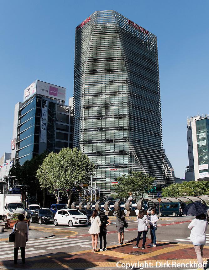 Architektur im Viertel Insadong, Seoul, Südkorea, Asien<br /> architecture in Insadong Quarters, Seoul, South Korea, Asia