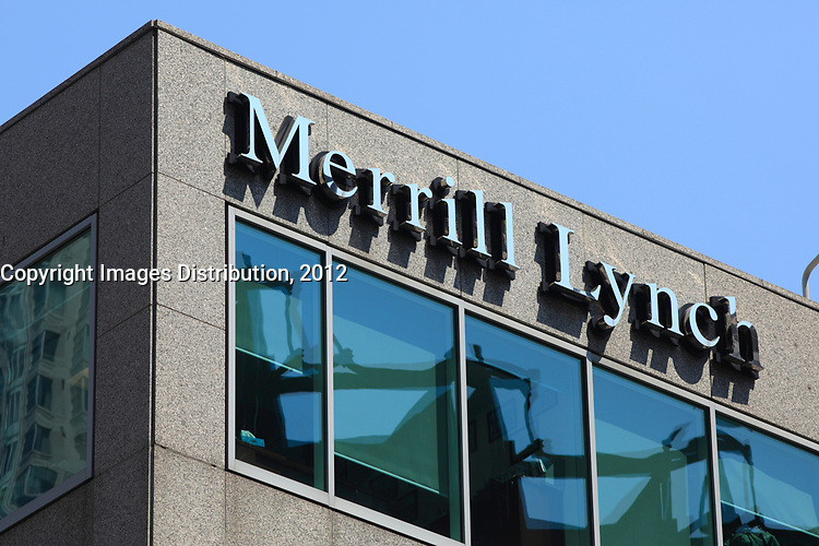 Toronto (ON) CANADA - July 2012 - Bay Street Financial District : Merrill Lynch