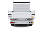 Straight rear view of 2020 Nissan NV400-Tipper Acenta 2 Door Chassis Cab Rear View  stock images