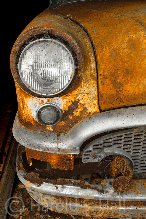 An old Buick sits in a carport outside of a private automobile museum in the Ring of Beara, Ireland.